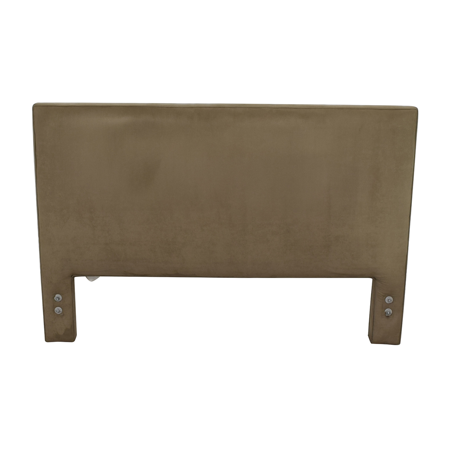 The Door Store The Door Store Grey Suede Queen Headboard discount