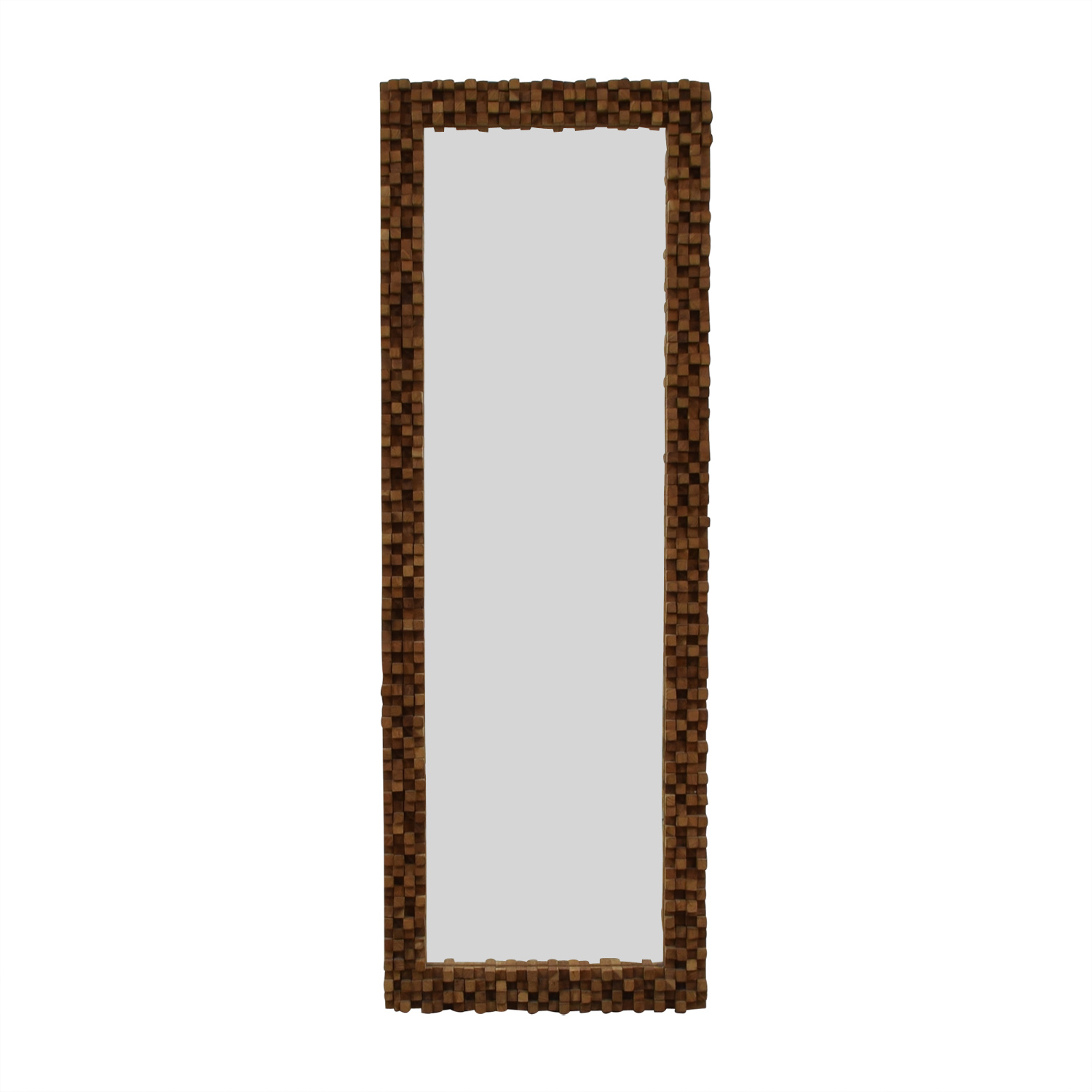 Tozai Home Tozai Home Float Wood Framed Floor Mirror dimensions