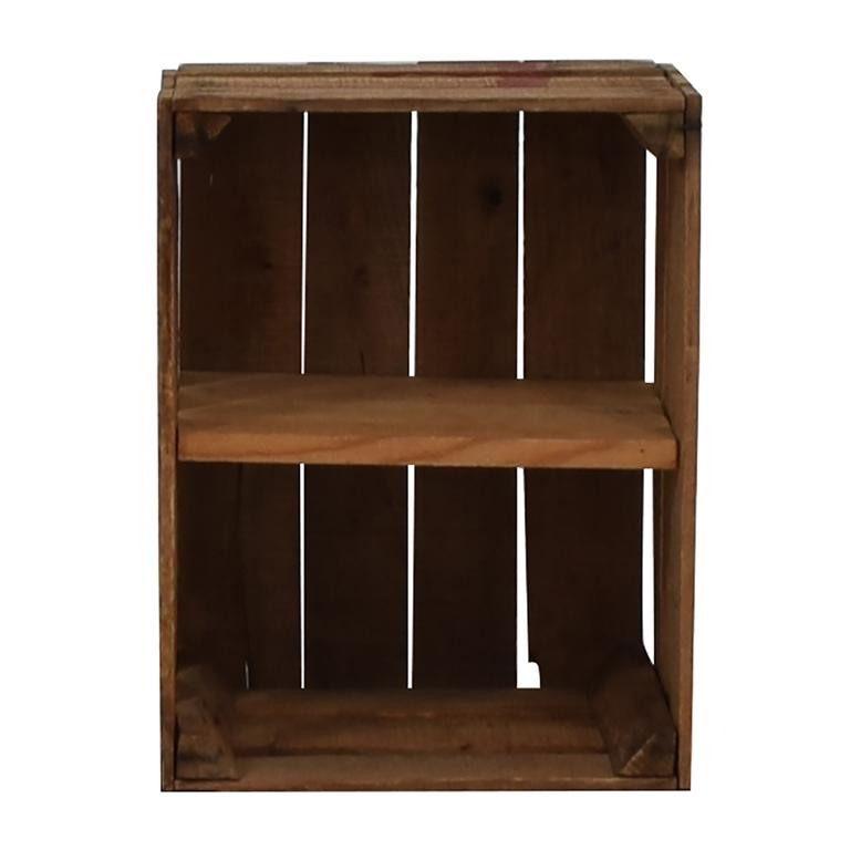 Custom Salvaged Wooden Crate Shelf