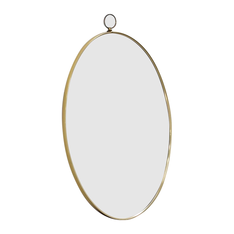 shop Turner Mfg Co. Turner Mfg Co. Vintage Oval Gold Framed Mirror online