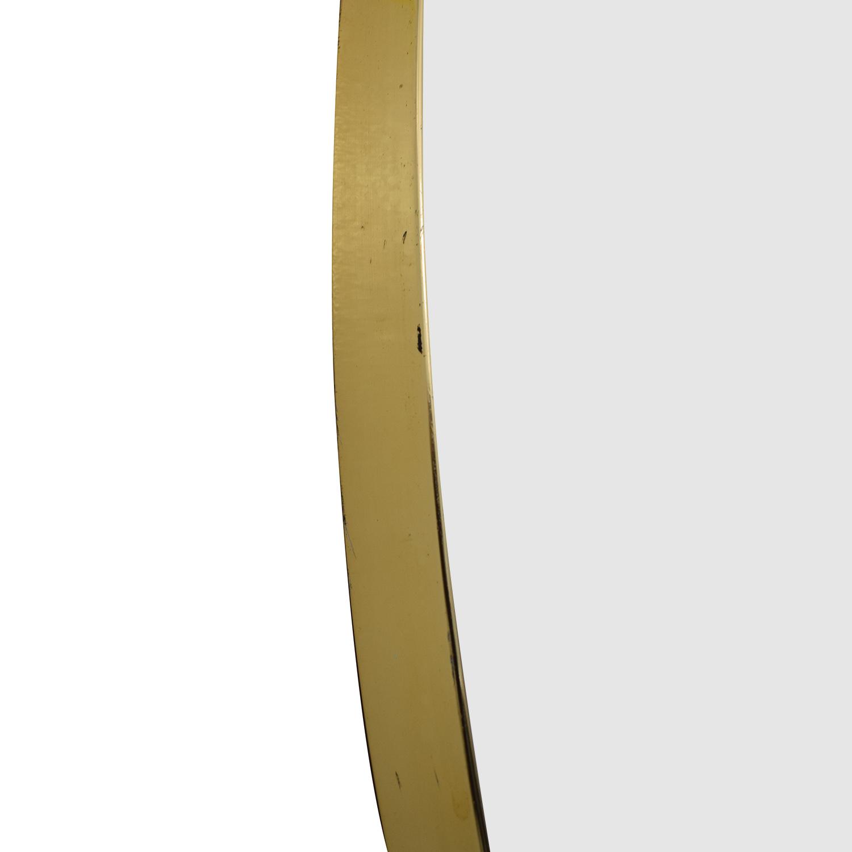 shop Turner Mfg Co. Vintage Oval Gold Framed Mirror Turner Mfg Co. Decor