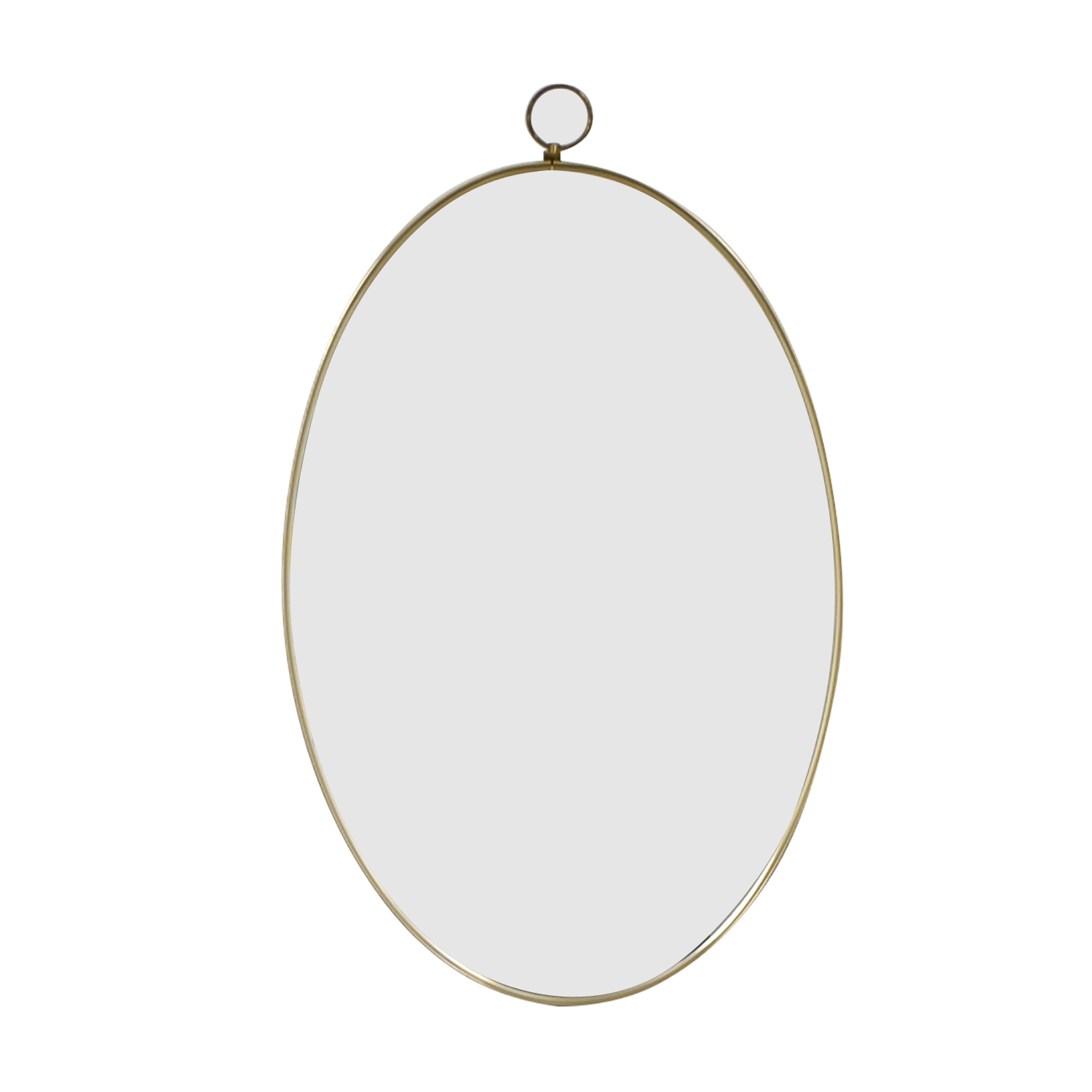 Turner Mfg Co. Vintage Oval Gold Framed Mirror sale