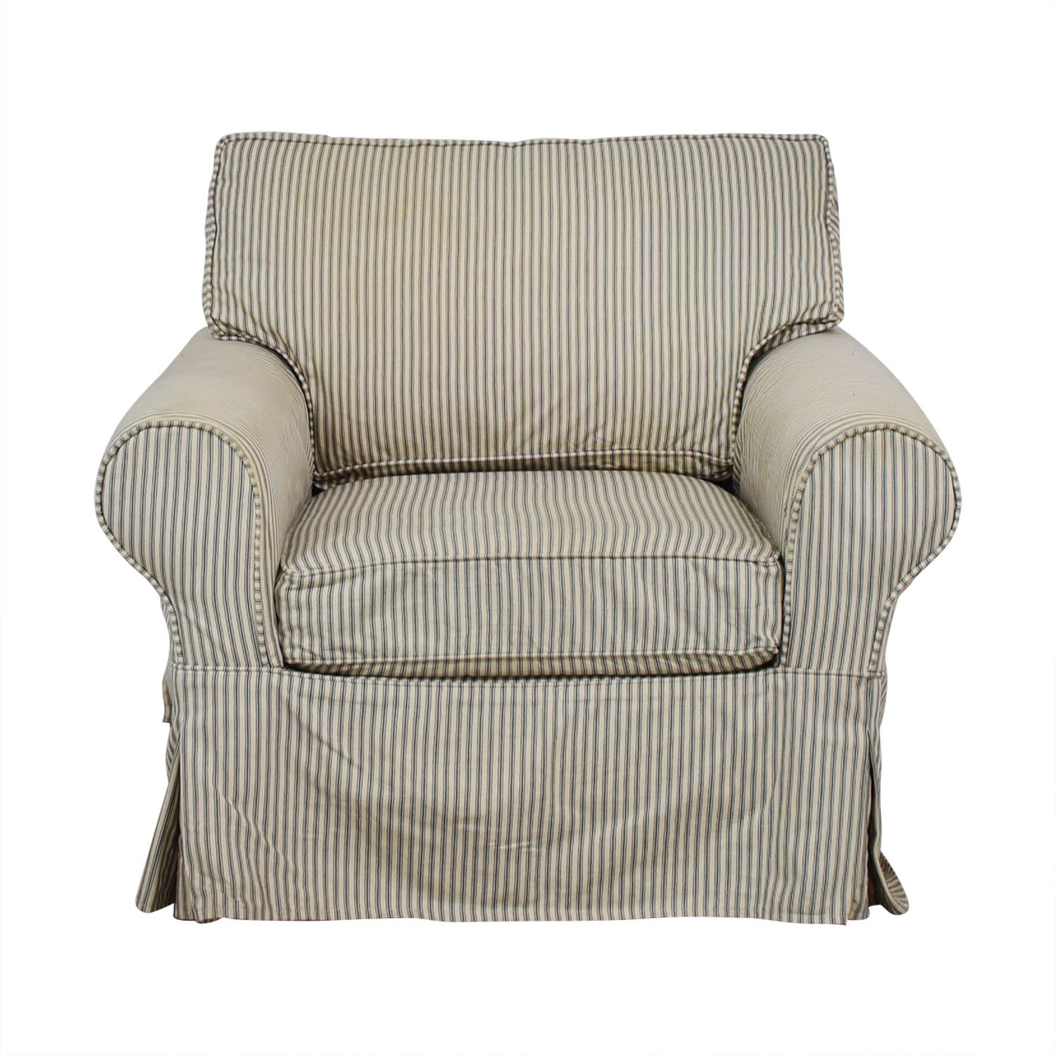 Mitchell Gold + Bob Williams Mitchell Gold + Bob Williams Comfort Roll Arm Slipcovered Grand Chair used