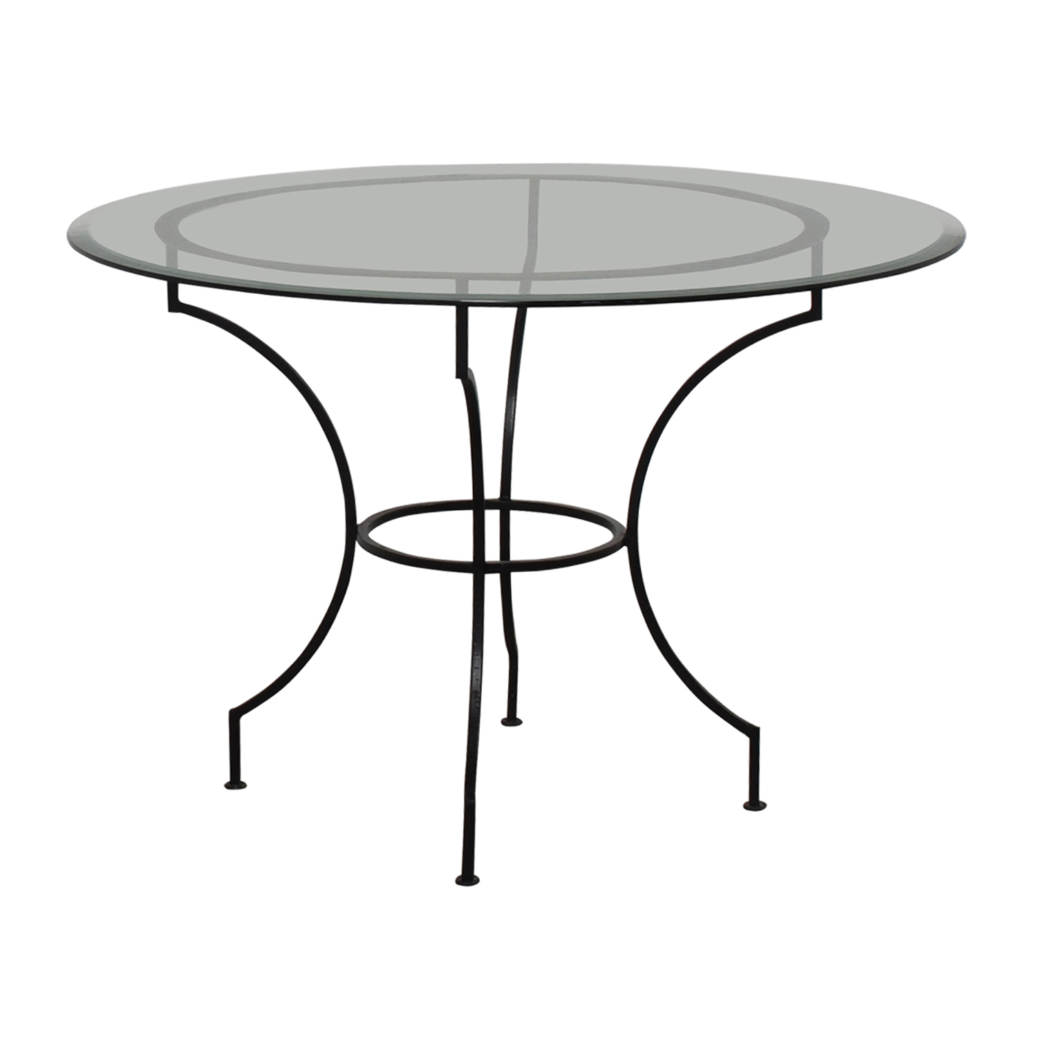 buy Pottery Barn Round Glass and Iron Base Table Pottery Barn Dinner Tables