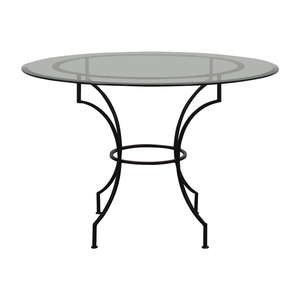Pottery Barn Pottery Barn Round Glass and Iron Base Table on sale