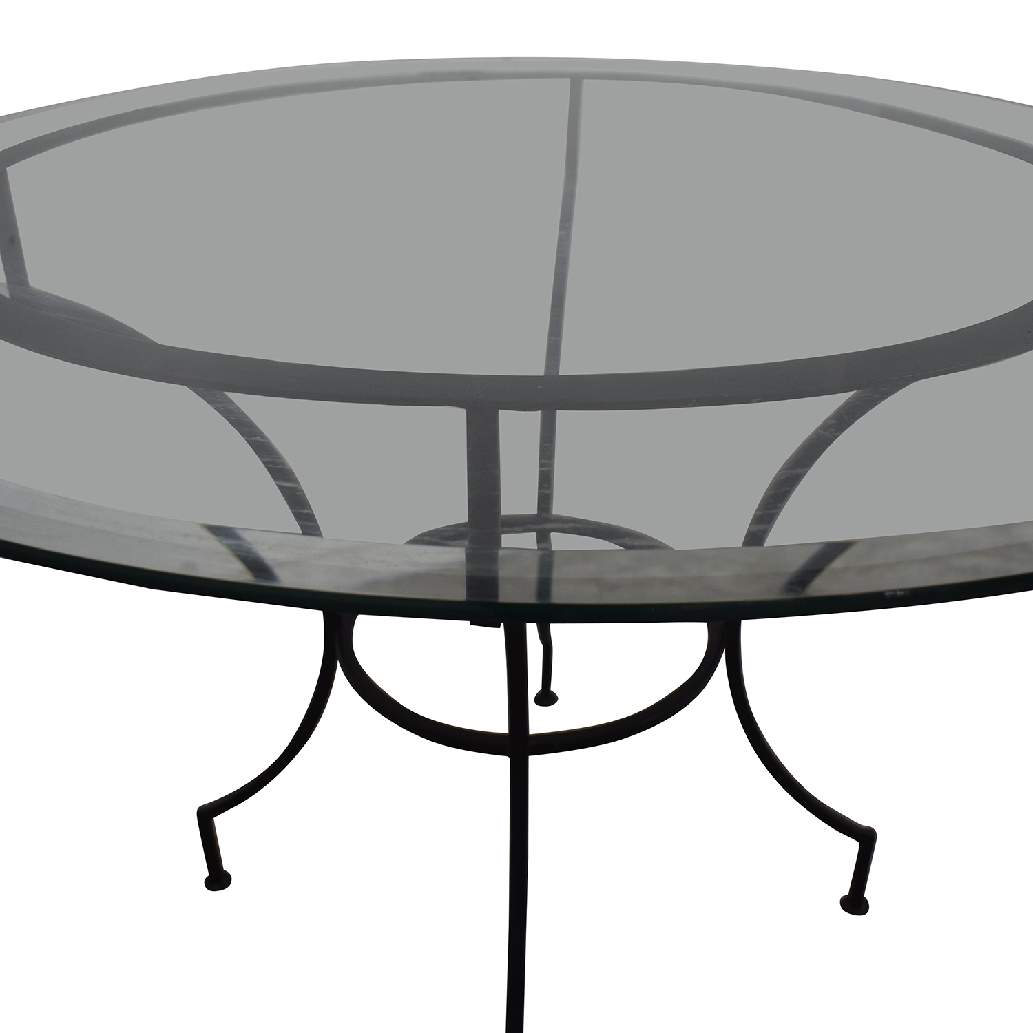Pottery Barn Pottery Barn Round Glass and Iron Base Table Tables