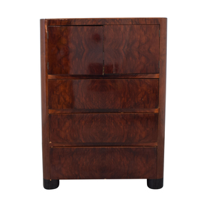 Depression Modern Art Deco Five Drawer Dresser