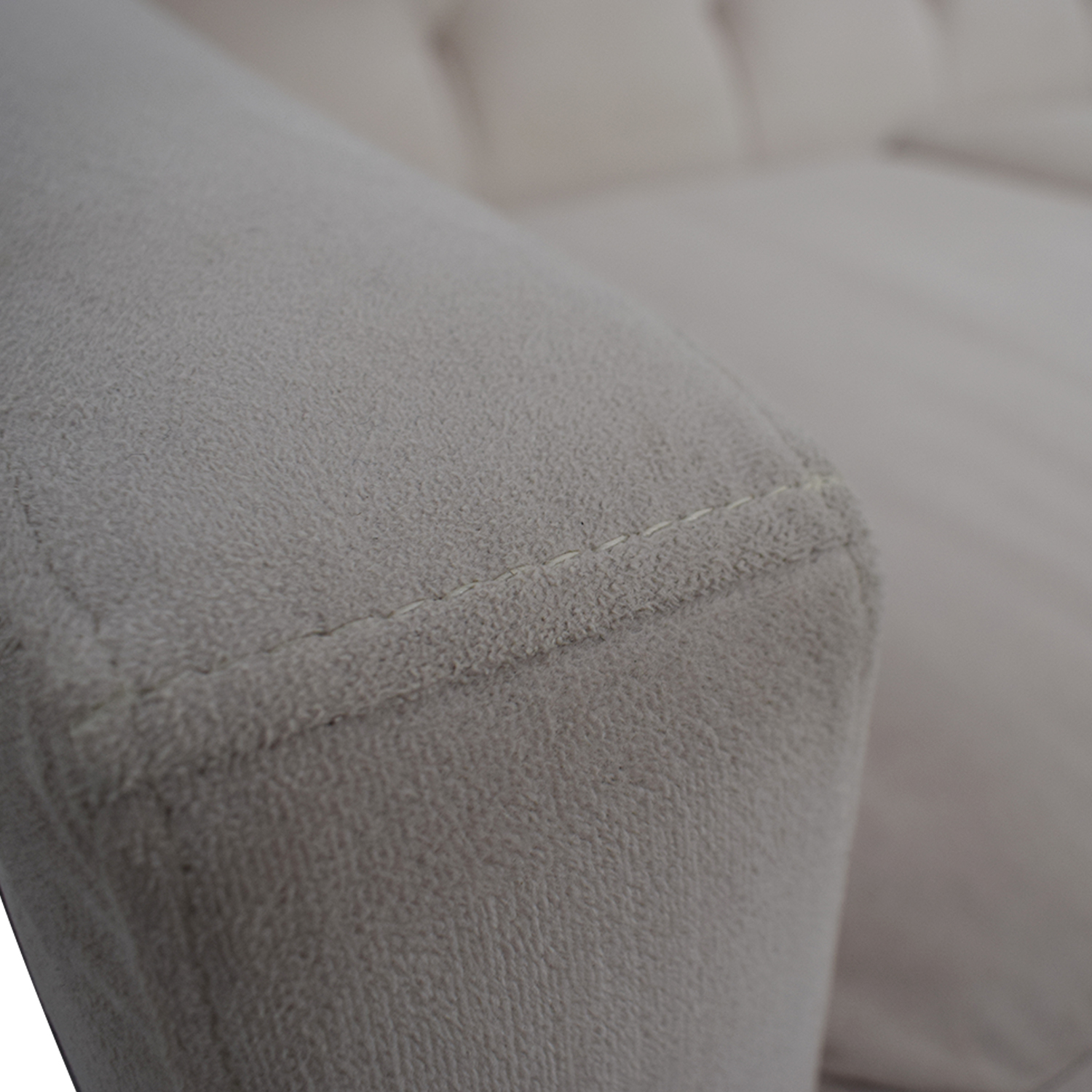 Picture of: 47 Off Max Home Max Home Furniture White Tufted Microfiber Three Cushion Couch Sofas