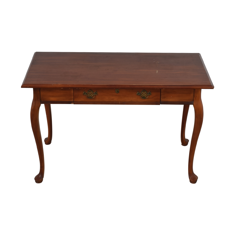 Vintage Wood Queen Anne Single-Drawer Desk price