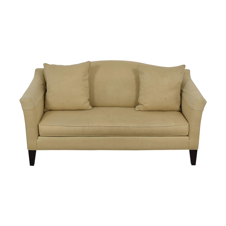 Ethan Allen Ethan Allen Hartwell Camel Single Cushion Sofa discount