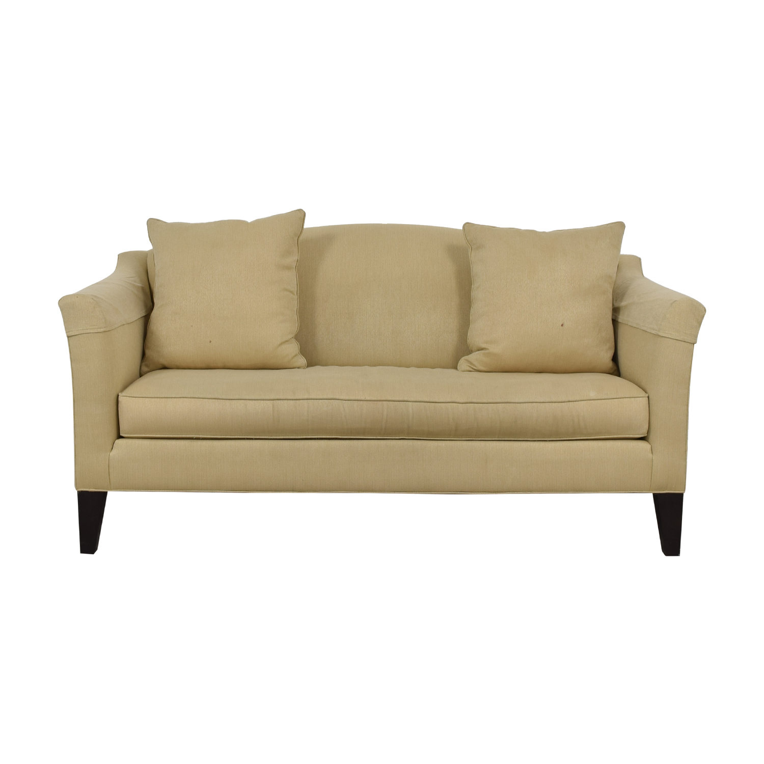 buy Ethan Allen Hartwell Camel Single Cushion Sofa Ethan Allen