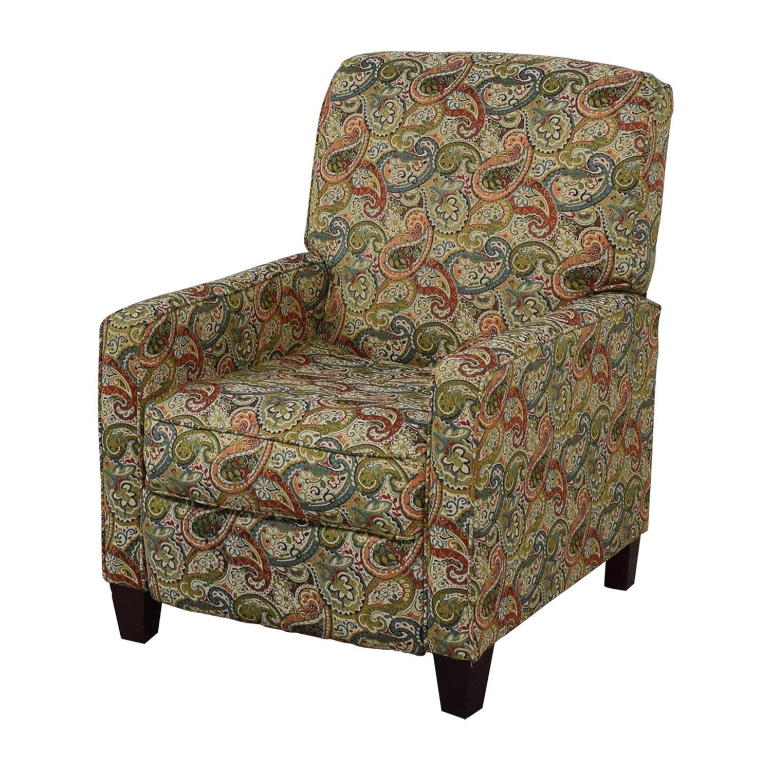 Jennifer Furniture Multi-Colored Push Back Recliner sale