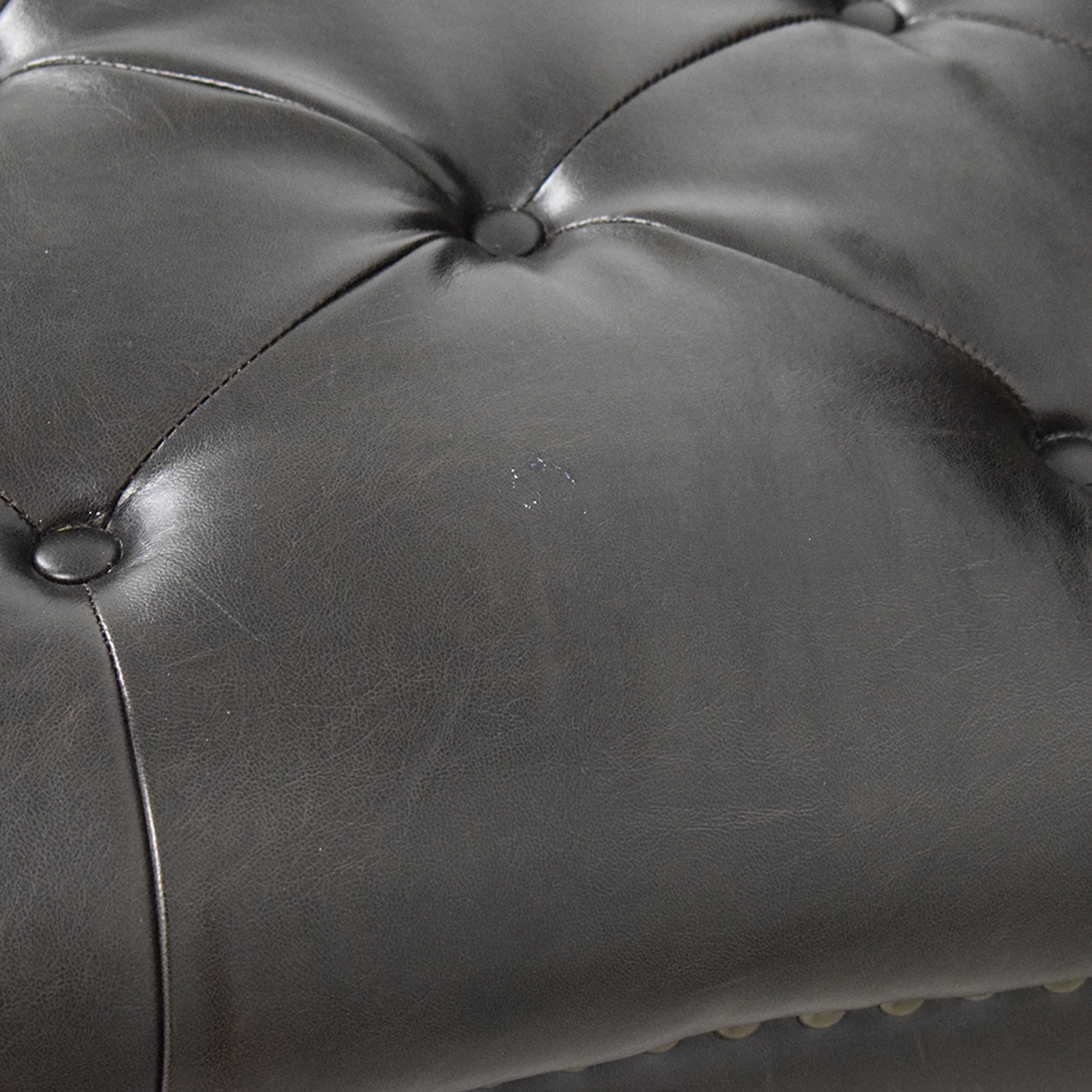 buy Raymour & Flanigan Sumter Brown Tufted Leather Chaise Raymour & Flanigan