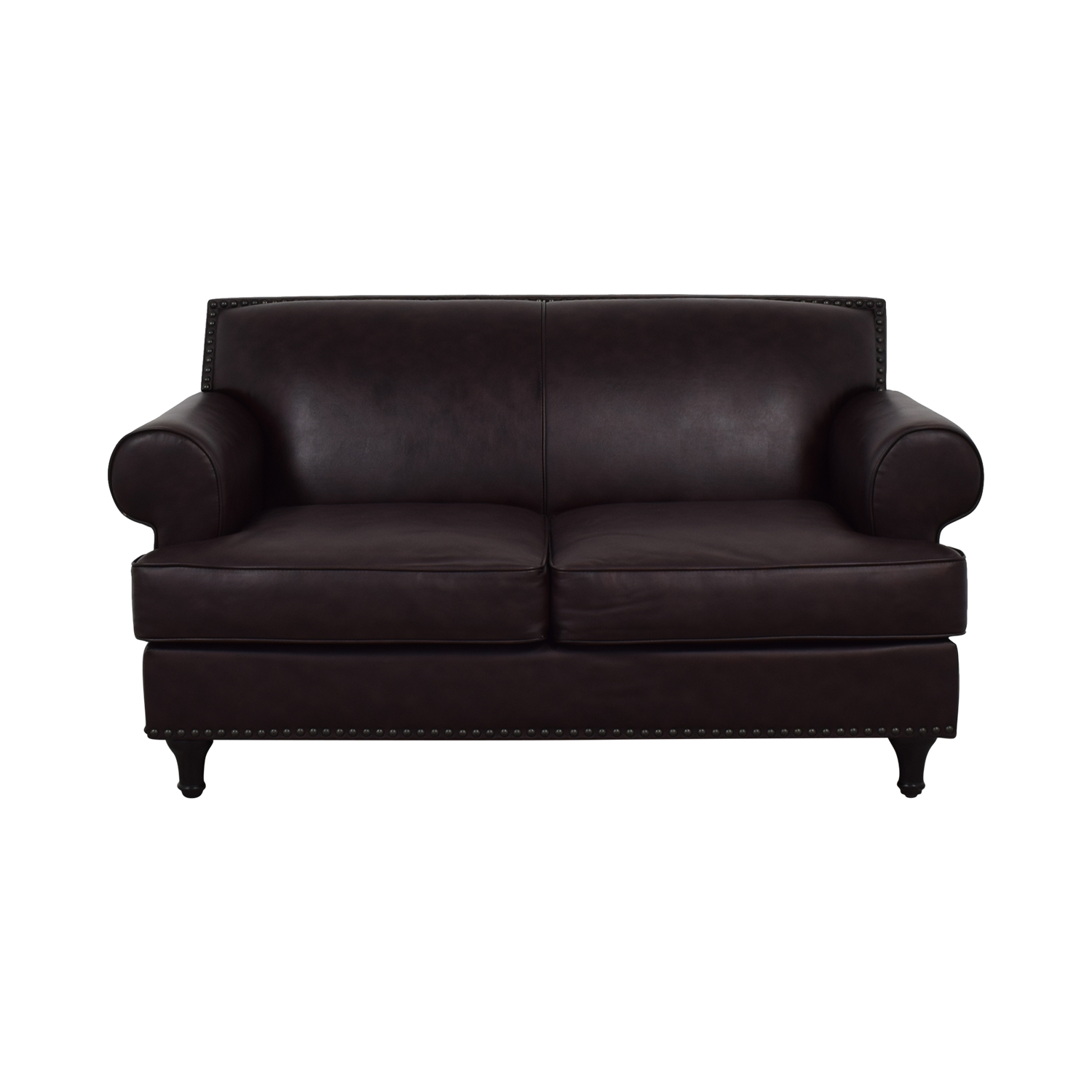 Pier 1 Imports Pier 1 Imports Brown Leather Love Seat dimensions