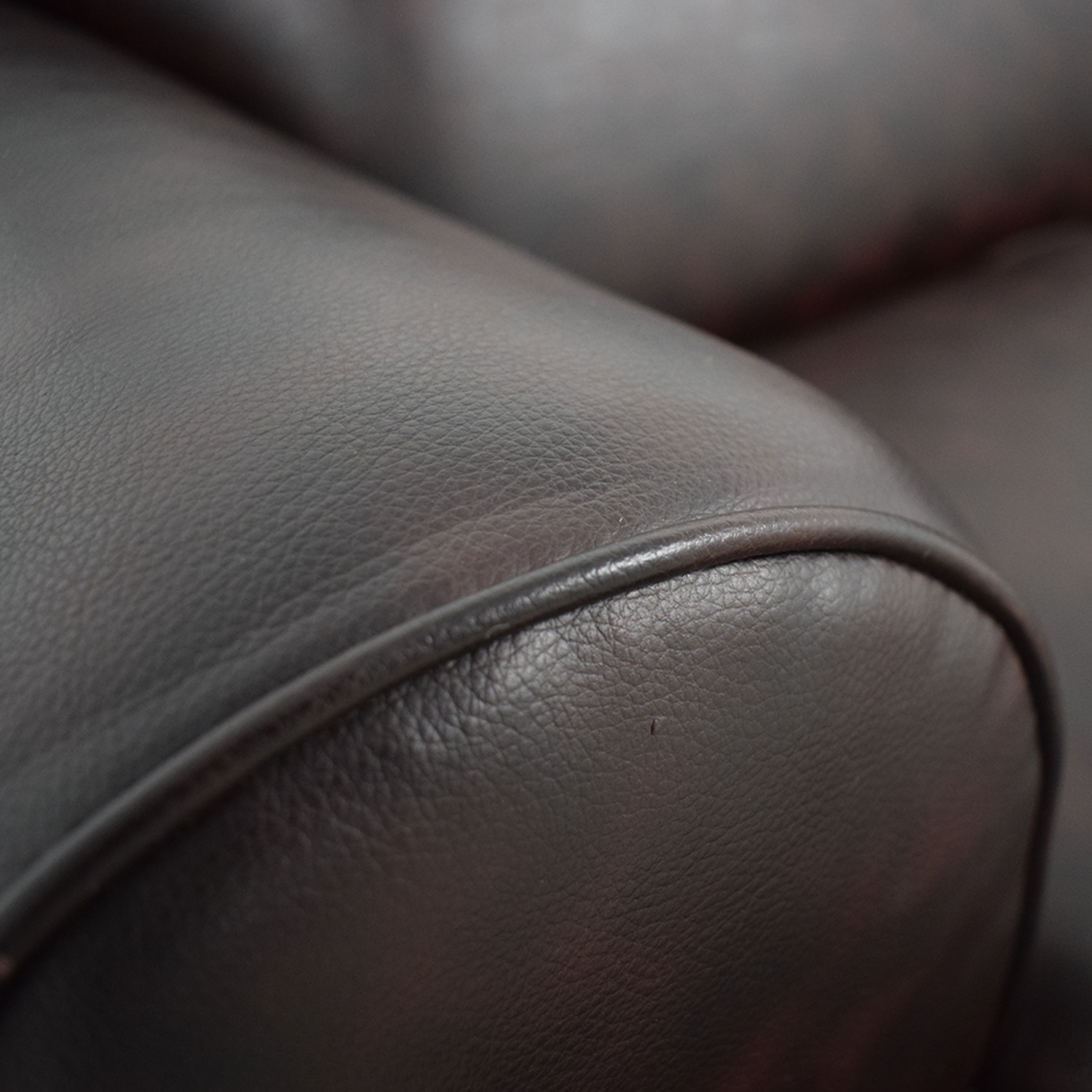Pier 1 Imports Pier 1 Imports Brown Leather Love Seat coupon