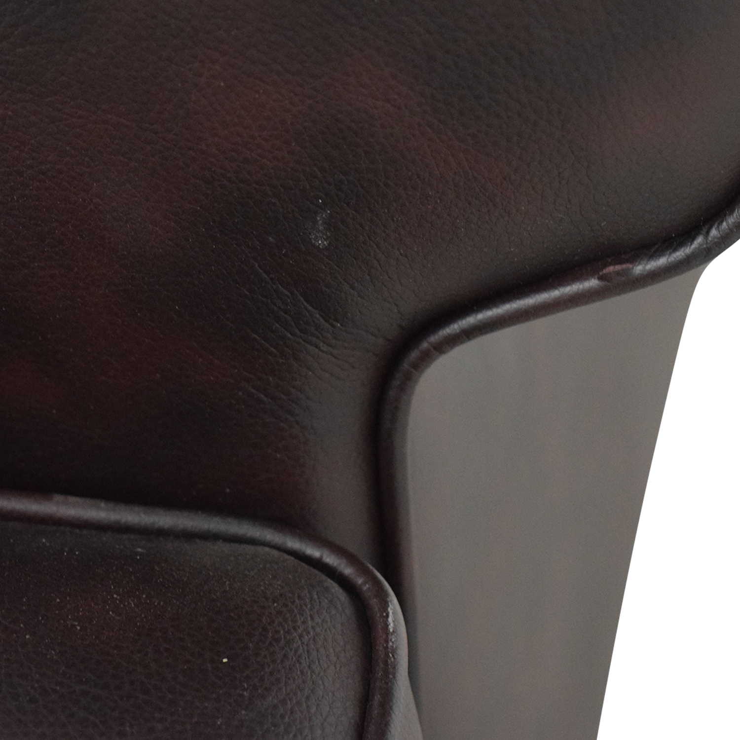 Pier 1 Imports Brown Leather Love Seat / Loveseats