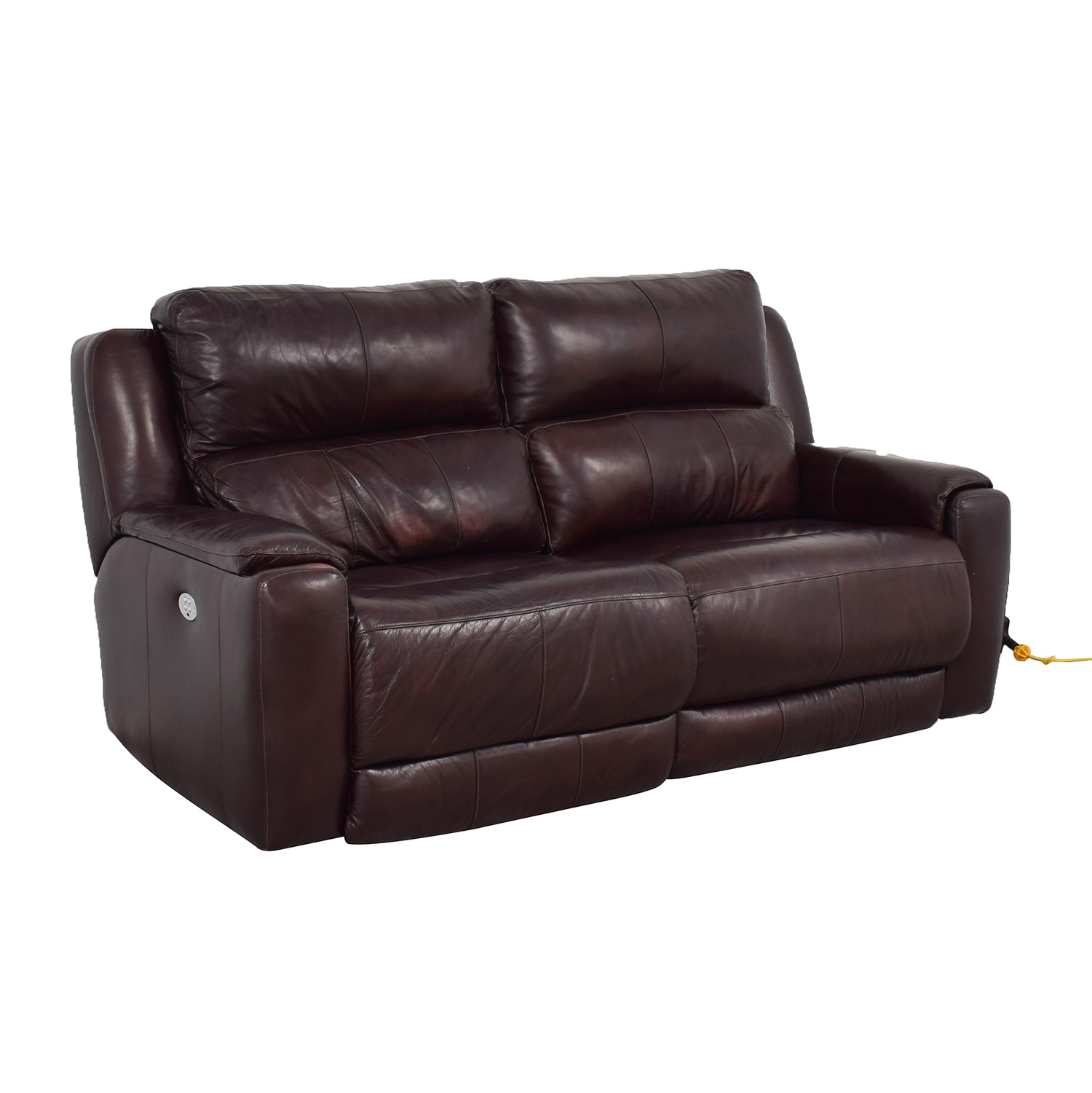 Raymour & Flanigan Raymour & Flanigan Brown Leather Electric Recliner for sale