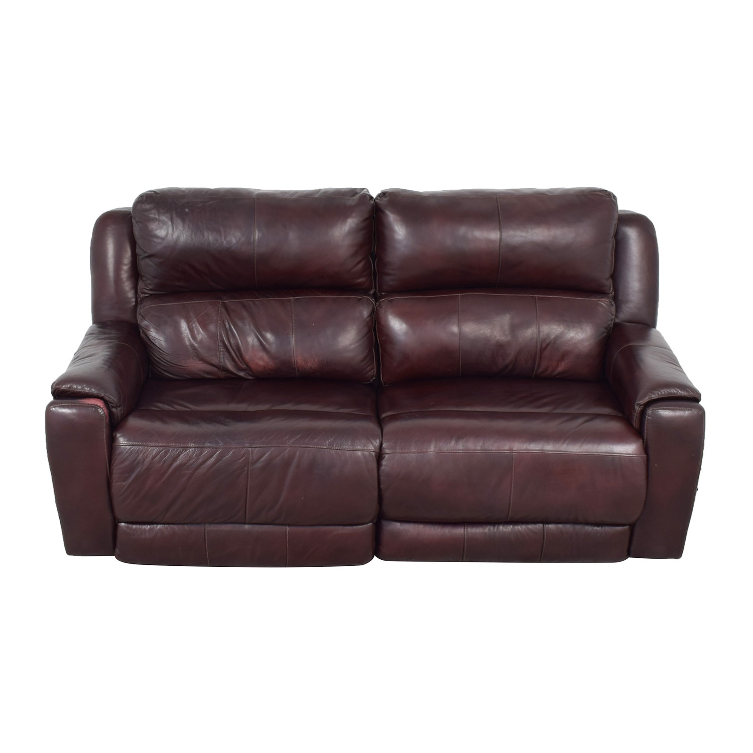 Raymour & Flanigan Brown Leather Electric Recliner / Sofas