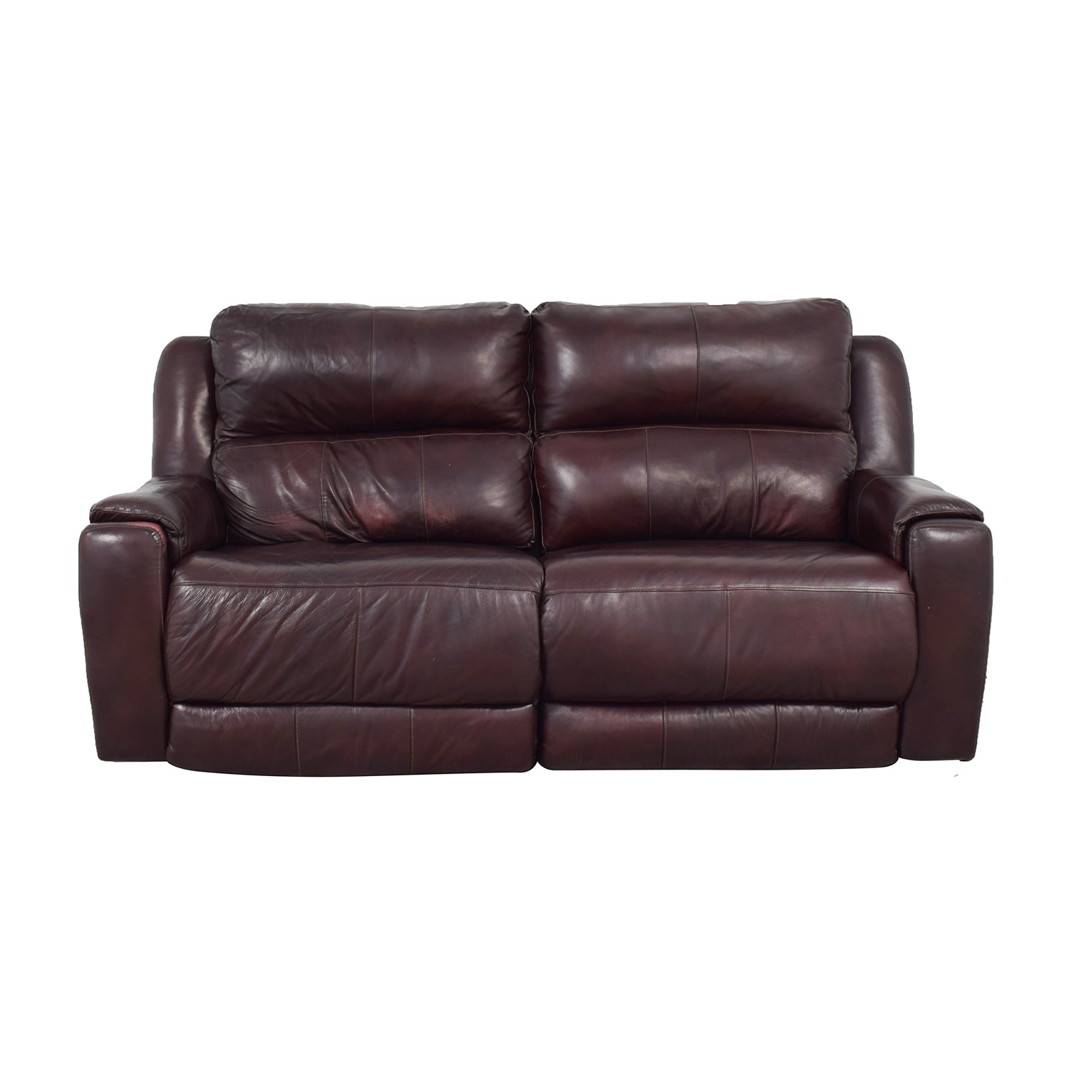 Raymour & Flanigan Raymour & Flanigan Brown Leather Electric Recliner brown