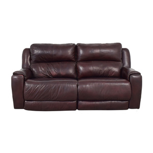 shop Raymour & Flanigan Raymour & Flanigan Brown Leather Electric Recliner online