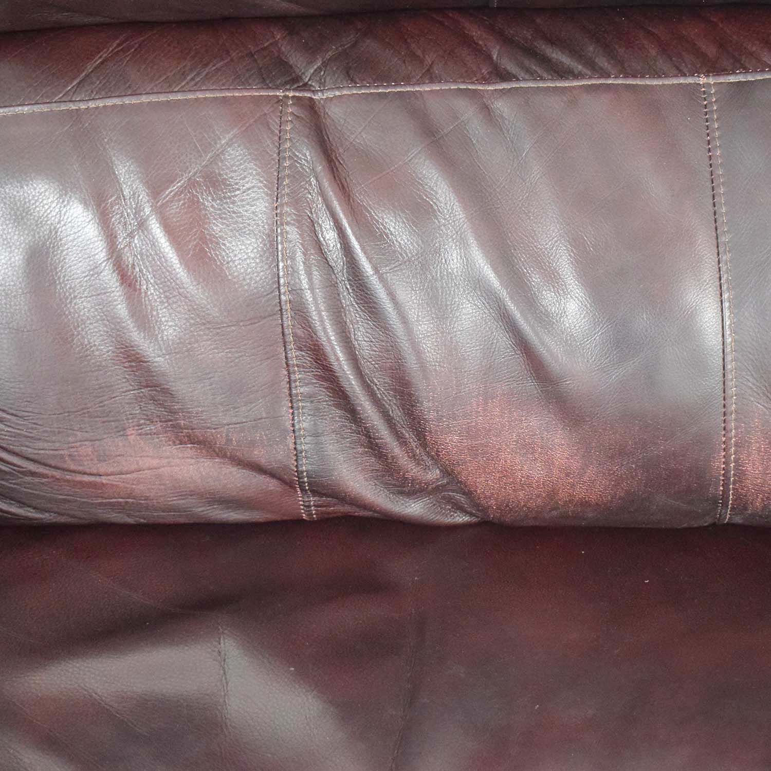 Raymour & Flanigan Raymour & Flanigan Brown Leather Electric Recliner discount