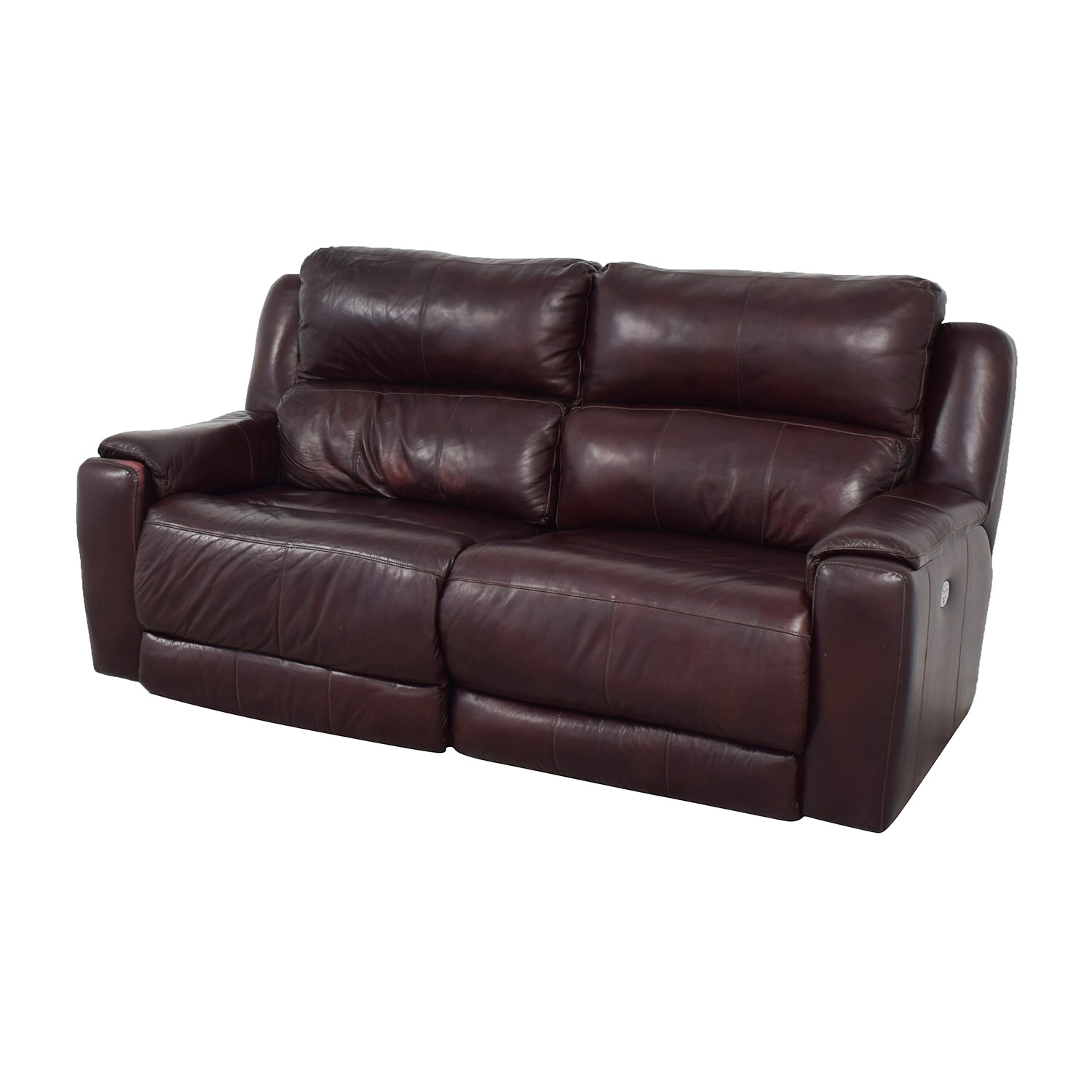 buy Raymour & Flanigan Raymour & Flanigan Brown Leather Electric Recliner online