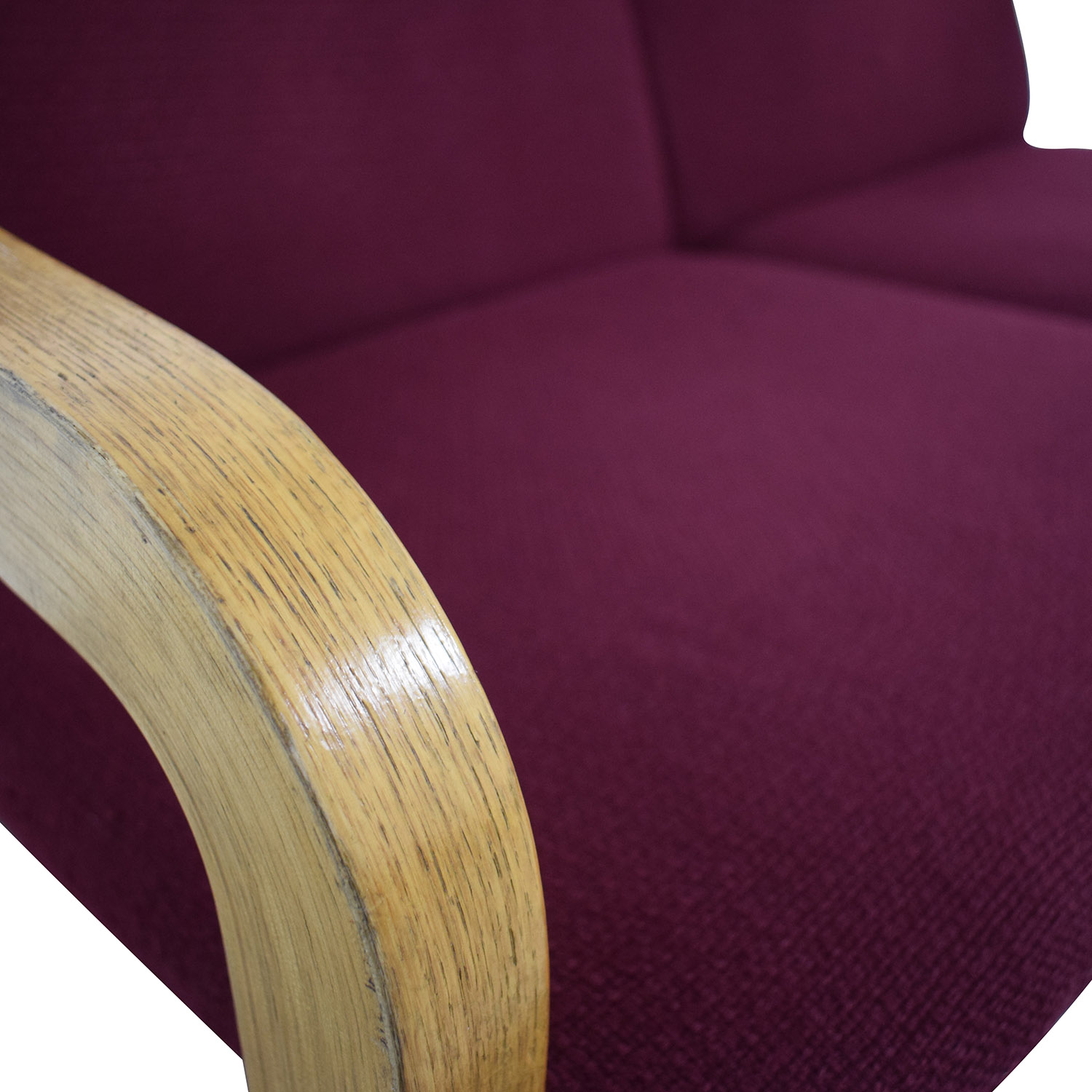 Thonet Thonet Bentwood Couch with Maroon Upholstery dimensions