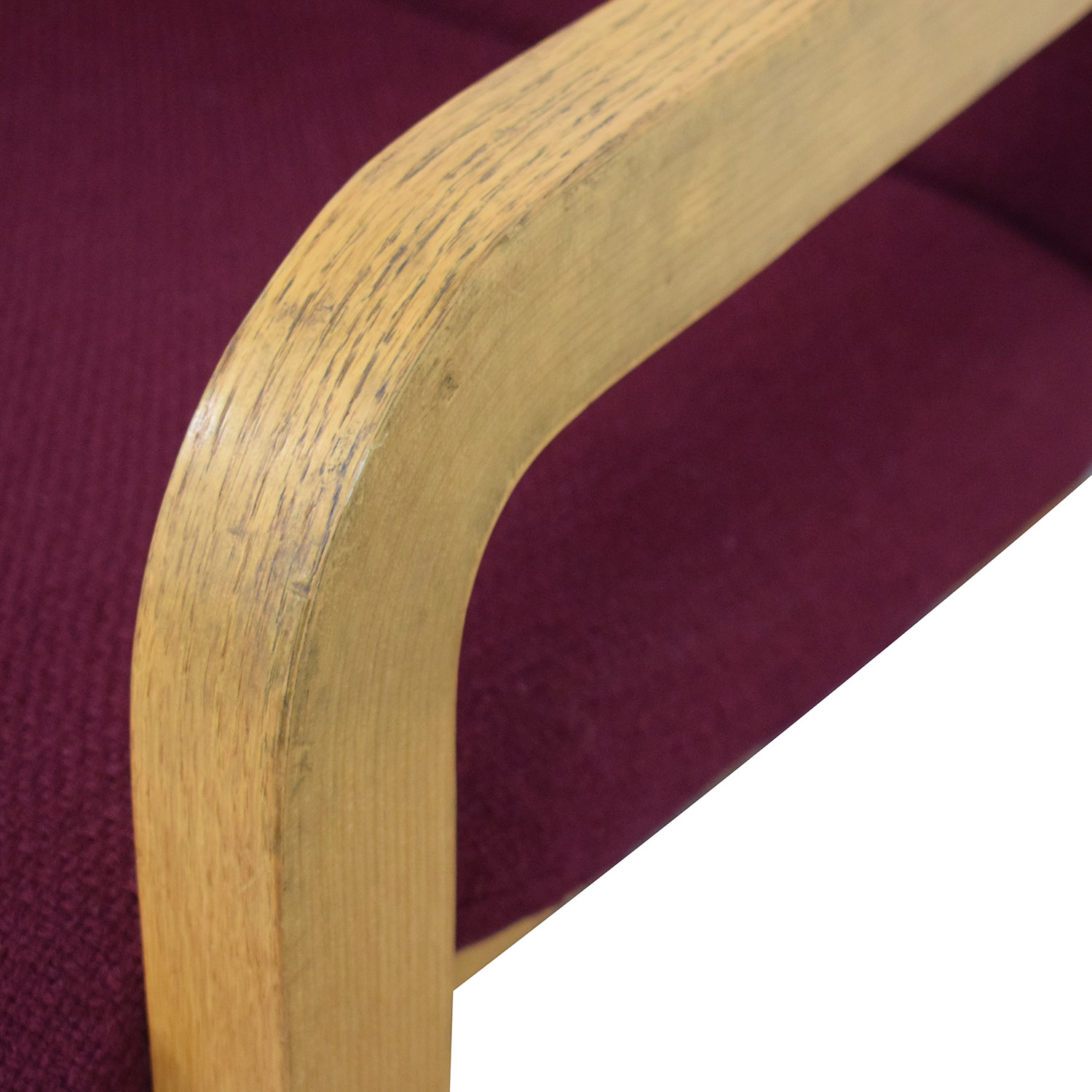 buy Thonet Bentwood Couch with Maroon Upholstery Thonet Sofas
