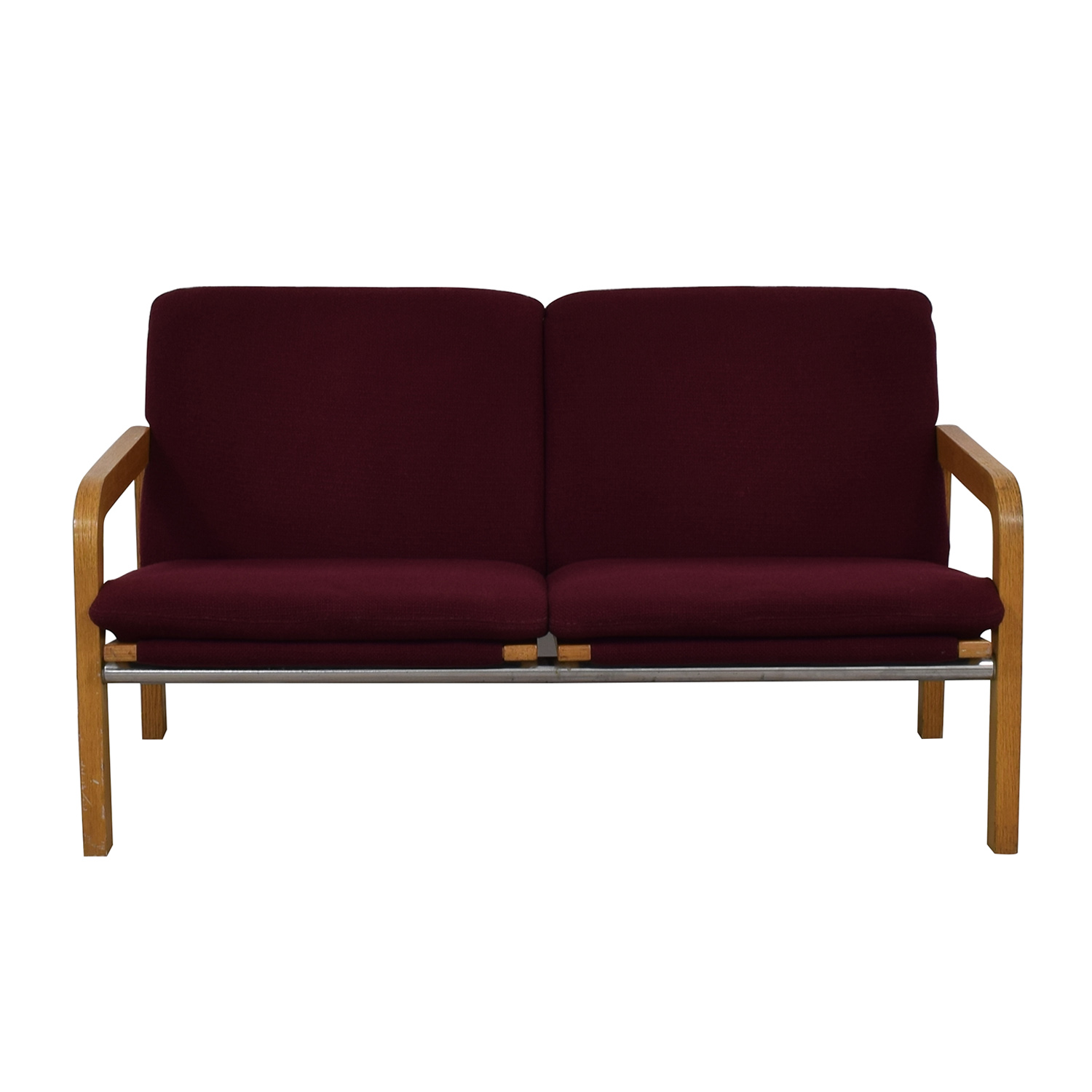 buy Thonet Thonet Bentwood Couch with Maroon Upholstery online