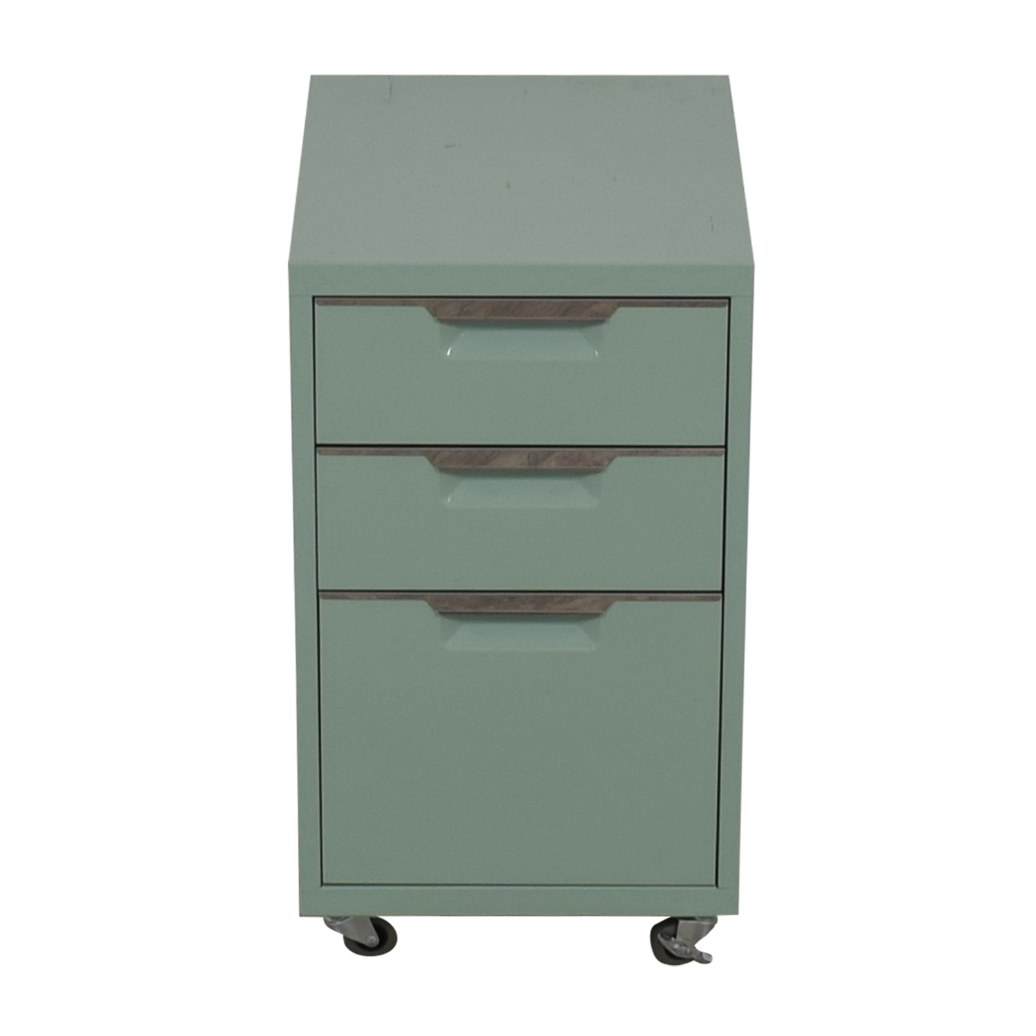 buy CB2 CB2 Green Three-Drawer Filing Cabinet online