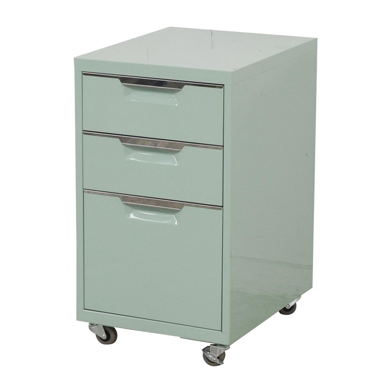 buy CB2 Green Three-Drawer Filing Cabinet CB2 Storage