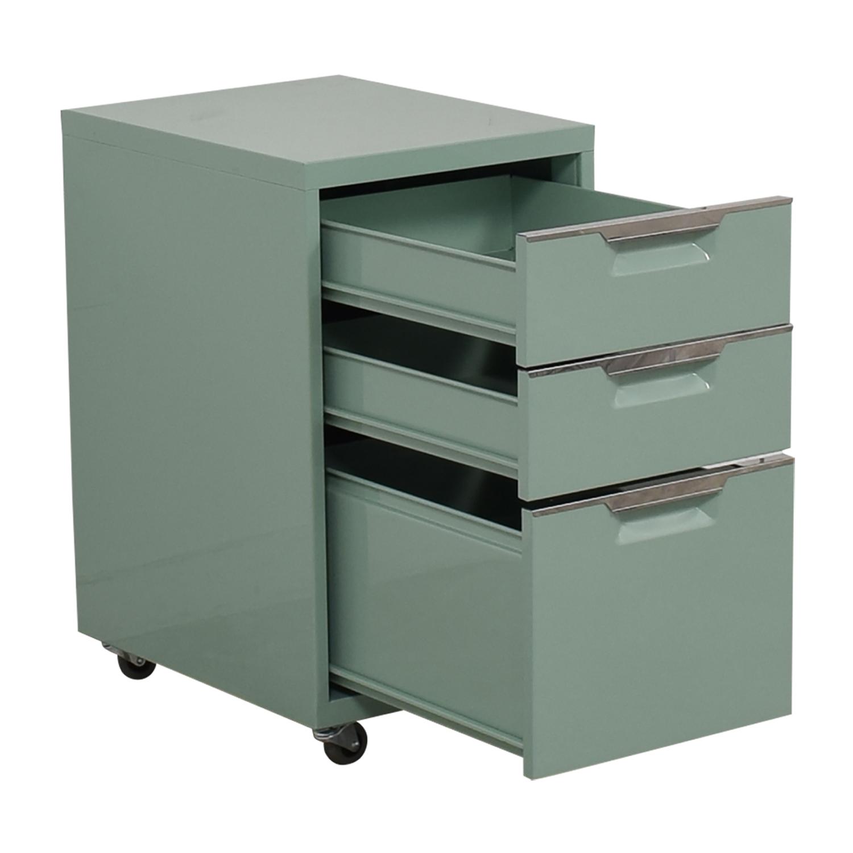 CB2 CB2 Green Three-Drawer Filing Cabinet price