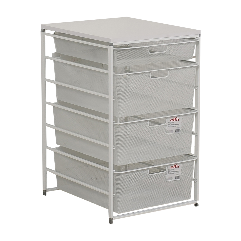 83 Off Elfa Elfa White Mesh Closet Drawers Storage
