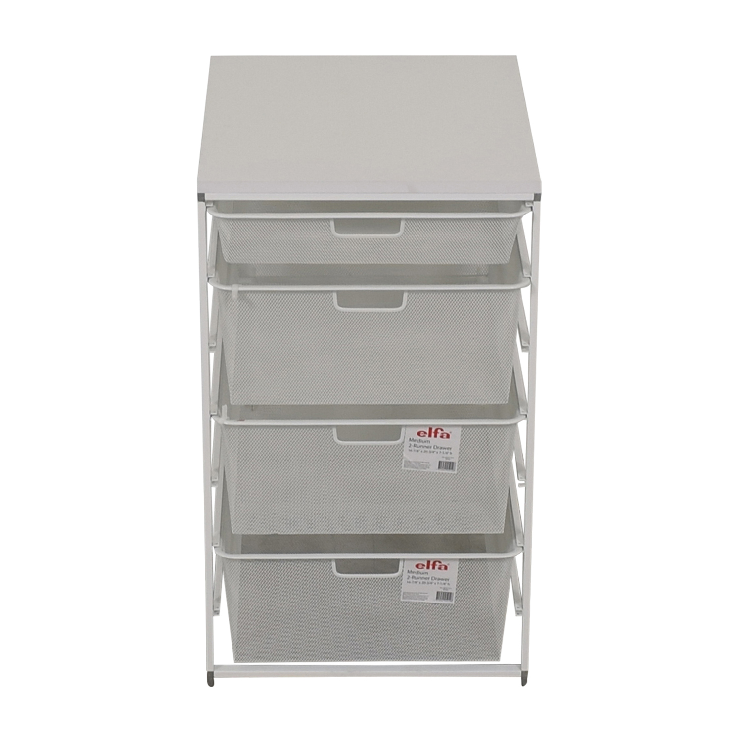 Elfa Elfa  White Mesh Closet Drawers Filing & Bins