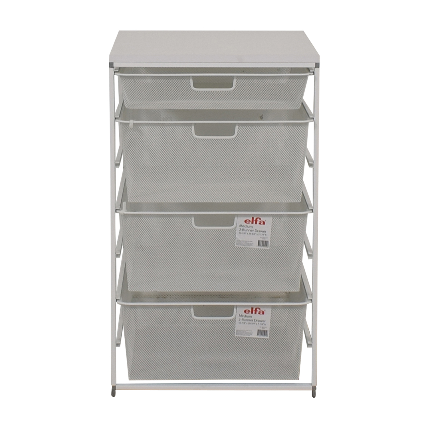 Elfa  White Mesh Closet Drawers Elfa