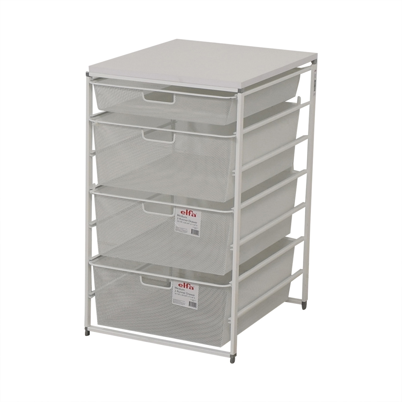 83% OFF   Elfa Elfa White Mesh Closet Drawers / Storage