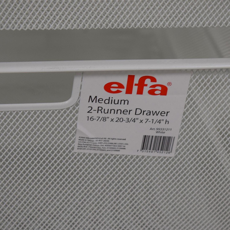 buy Elfa Elfa  White Mesh Closet Drawers online
