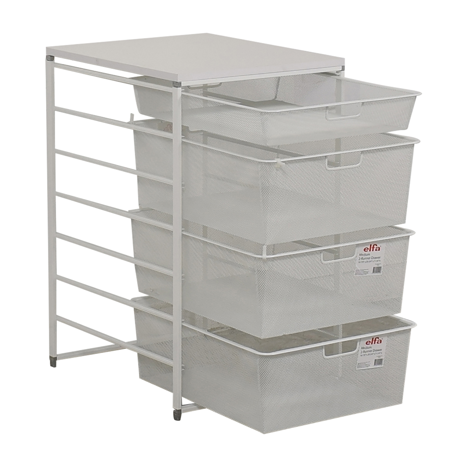 83 Off Elfa Elfa White Mesh Closet Drawers Storage