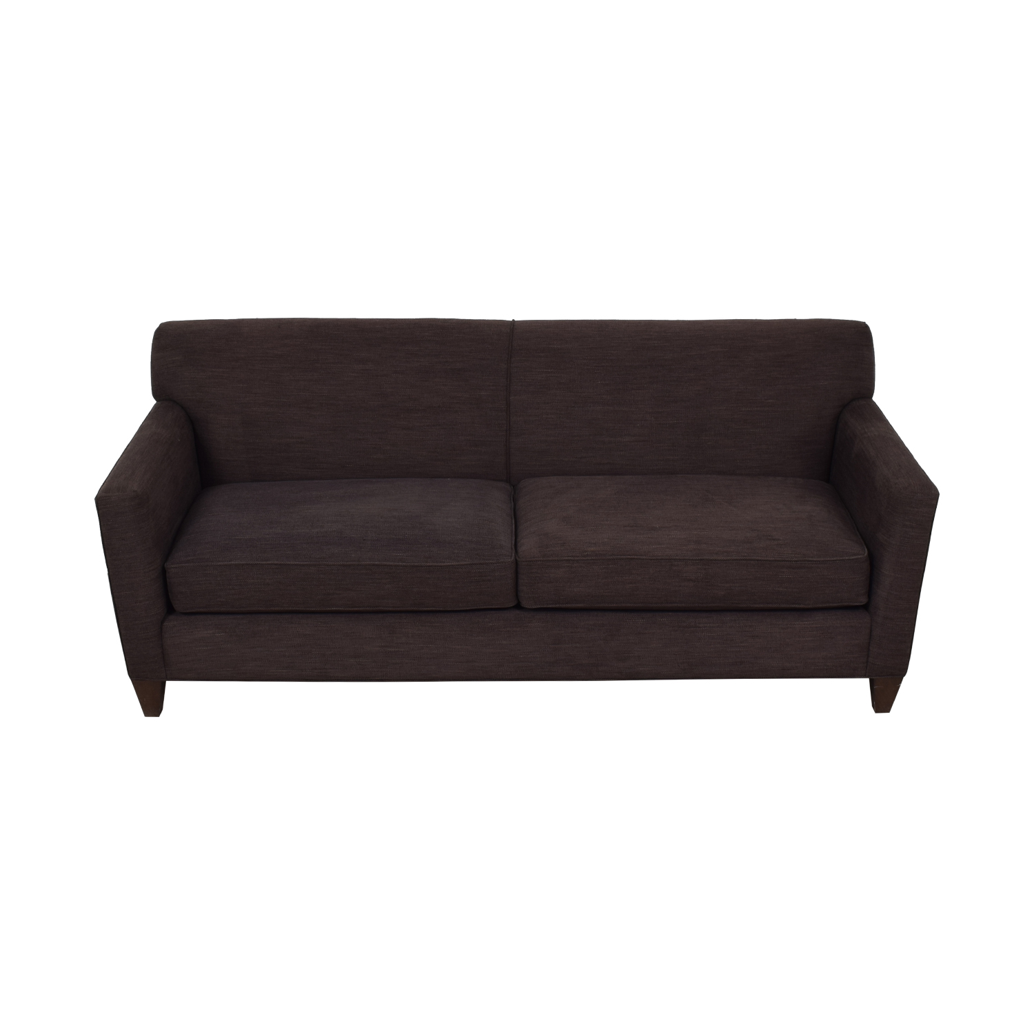 buy Crate & Barrel Hennessy Brown Two-Cushion Sofa Crate & Barrel Classic Sofas