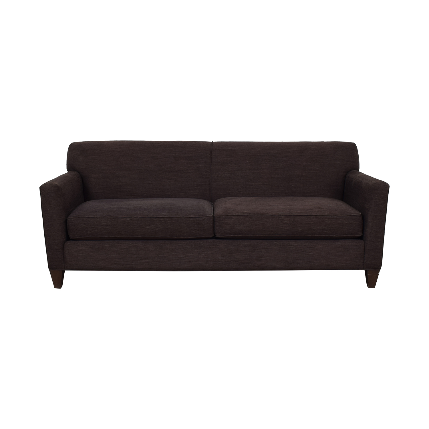 Crate & Barrel Crate & Barrel Hennessy Brown Two-Cushion Sofa nj