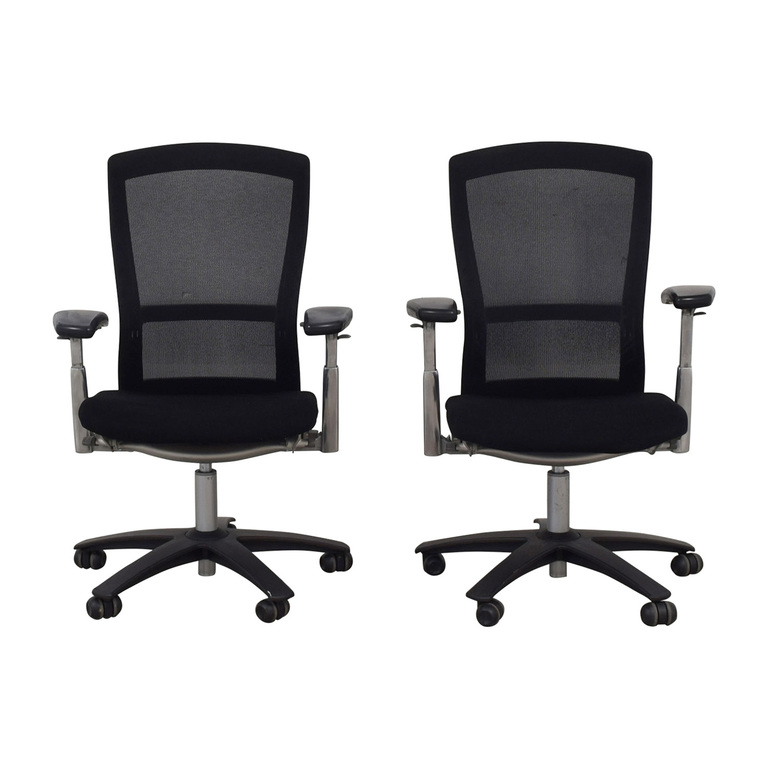 Knoll Knoll Life Black Desk Chairs dimensions