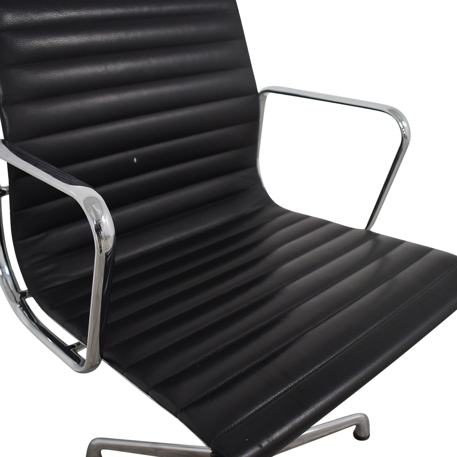 Herman Miller Herman Miller Eames Aluminum Black Leather Office Chair Home Office Chairs