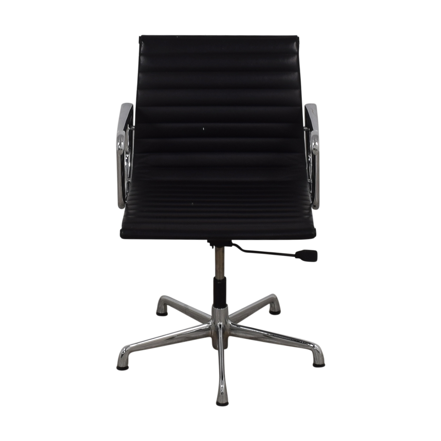 Herman Miller Herman Miller Eames Aluminum Black Leather Office Chair on sale