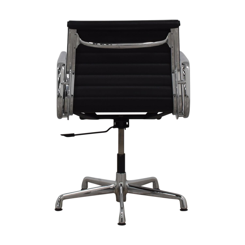 buy Herman Miller Herman Miller Eames Aluminum Black Leather Office Chair online
