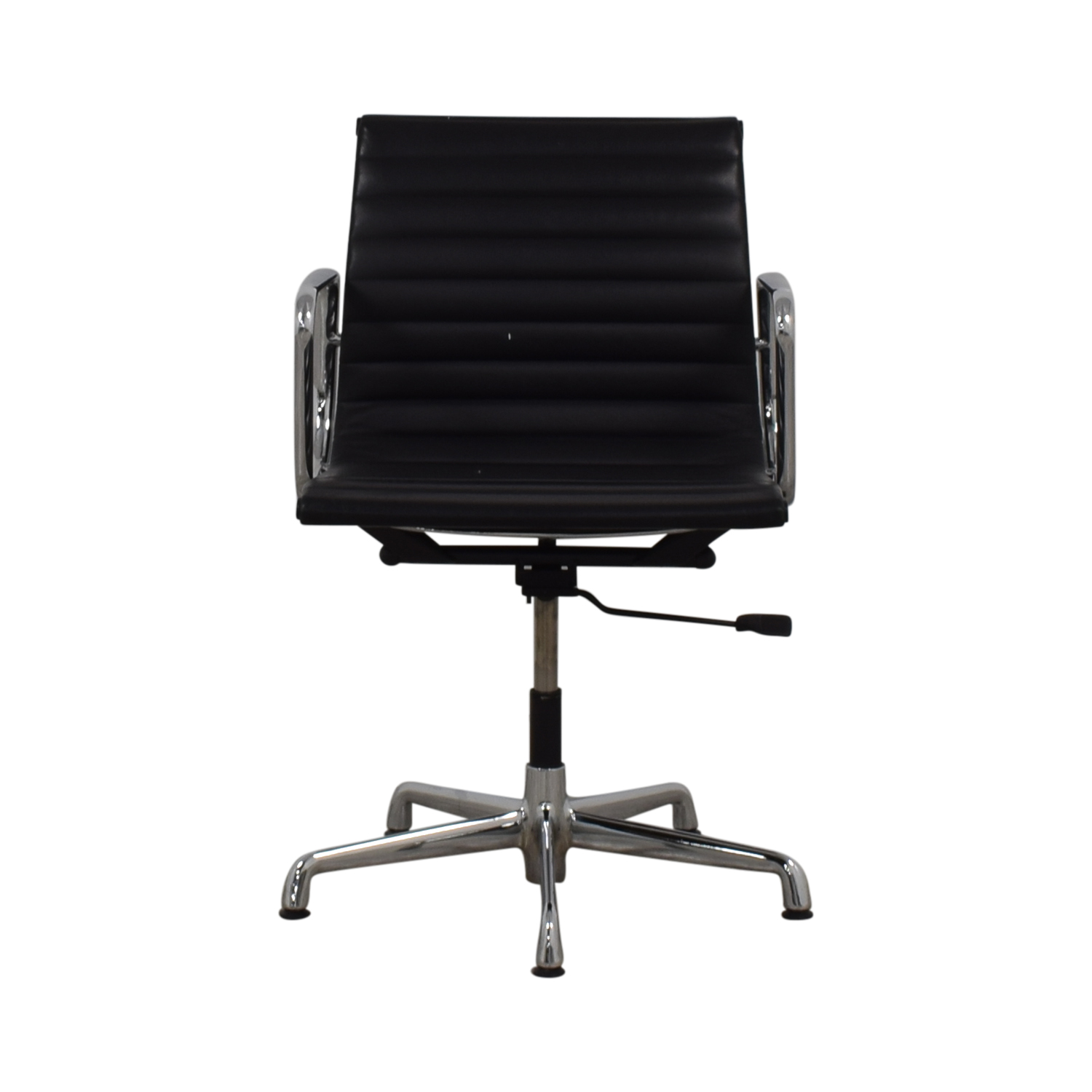 Herman Miller Eames Aluminum Black Leather Office Chair / Home Office Chairs