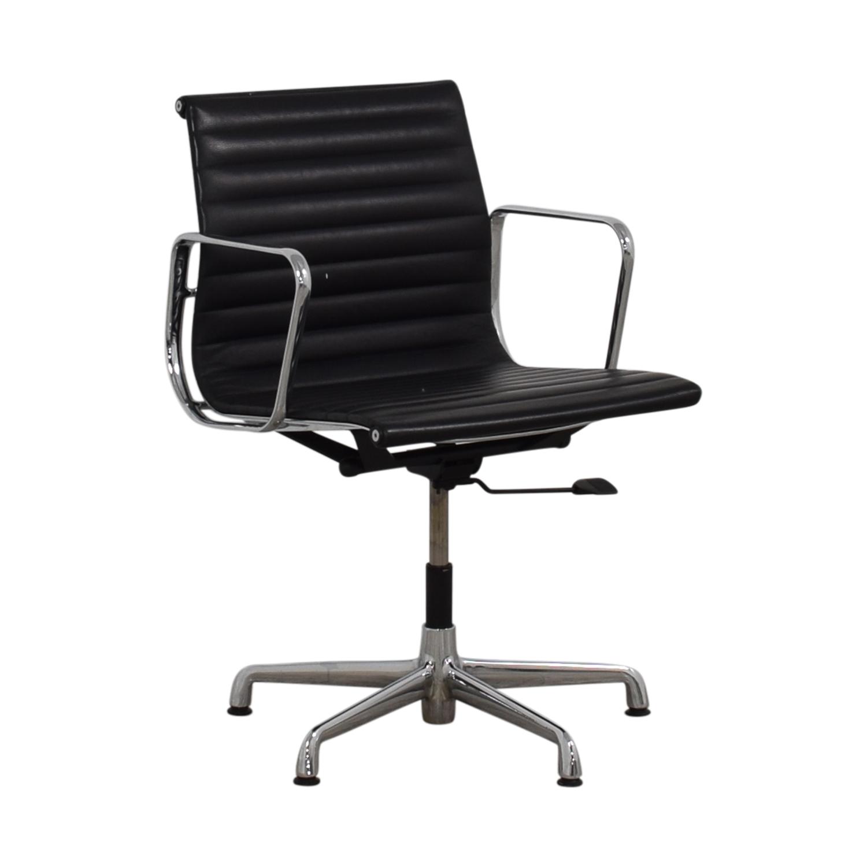 buy Herman Miller Eames Aluminum Black Leather Office Chair Herman Miller Home Office Chairs