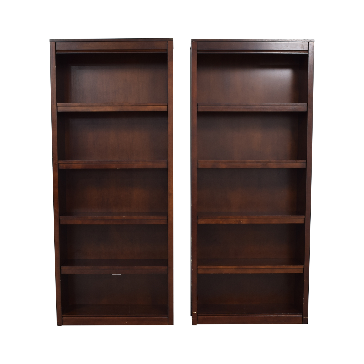 shop Crate & Barrel Payton Tobacco Bookshelves Crate & Barrel Storage