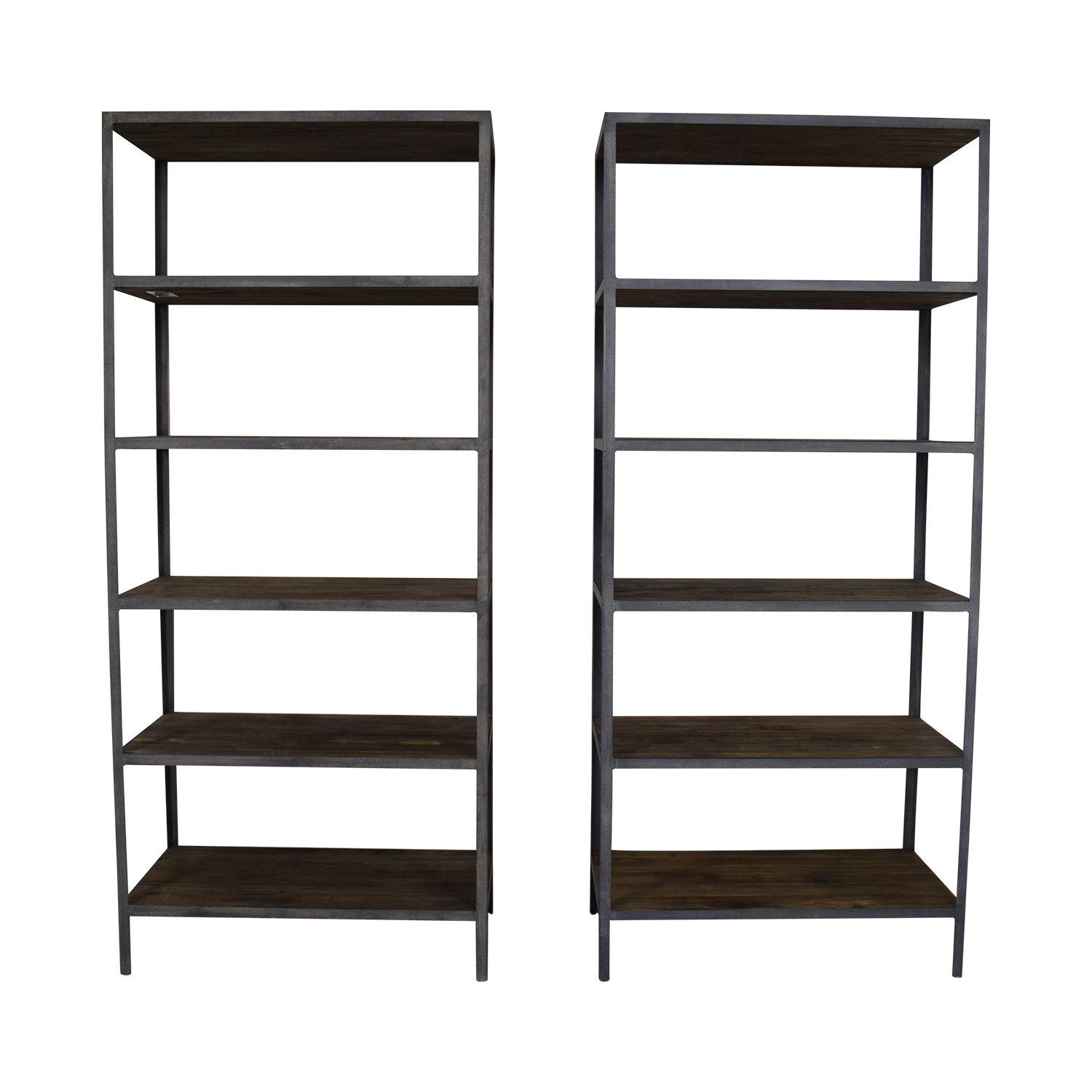 Restoration Hardware Vintage Grey Industrial Open Shelving Restoration Hardware