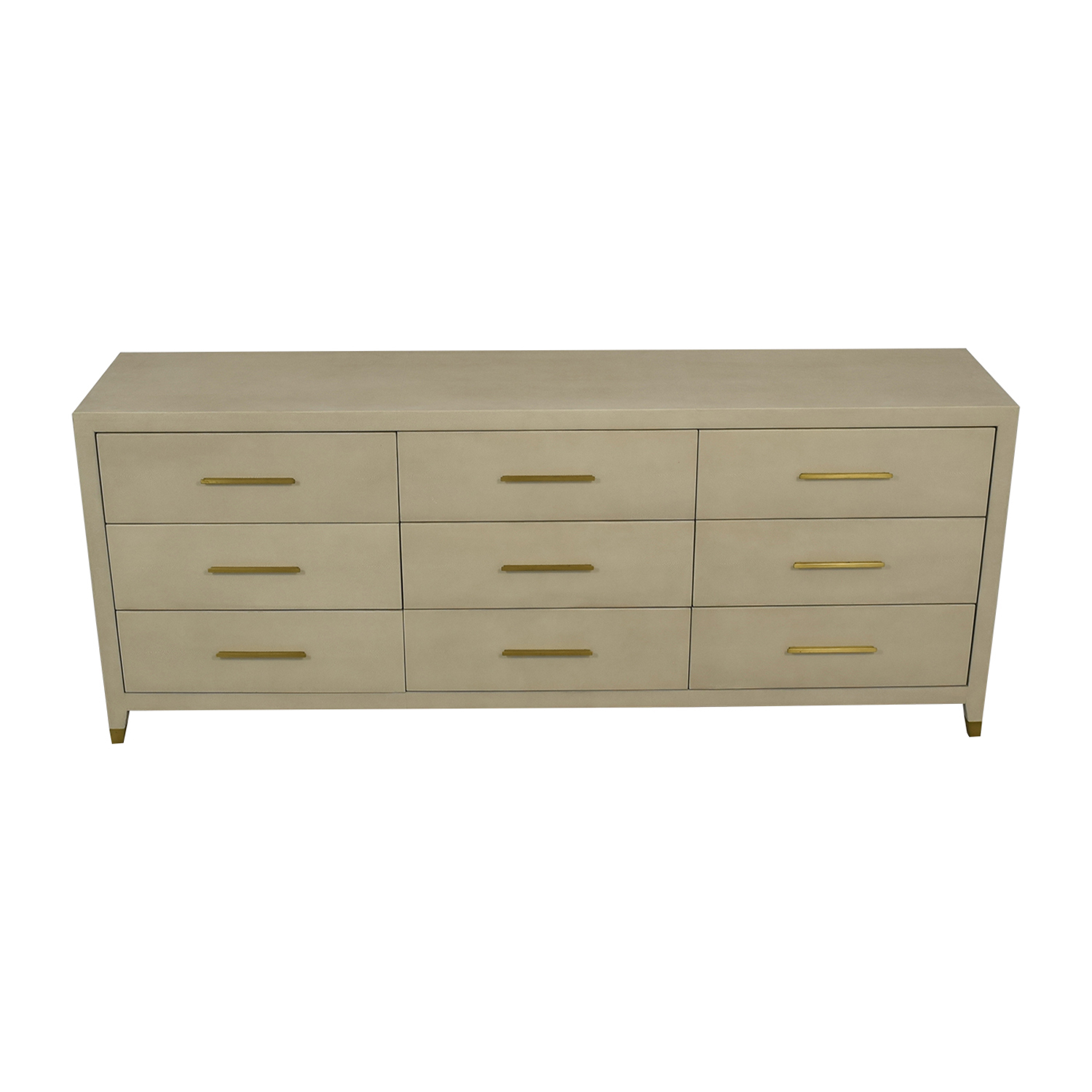 shop Restoration Hardware Graydon Bone Shagreen Nine-Drawer Dresser Restoration Hardware Dressers