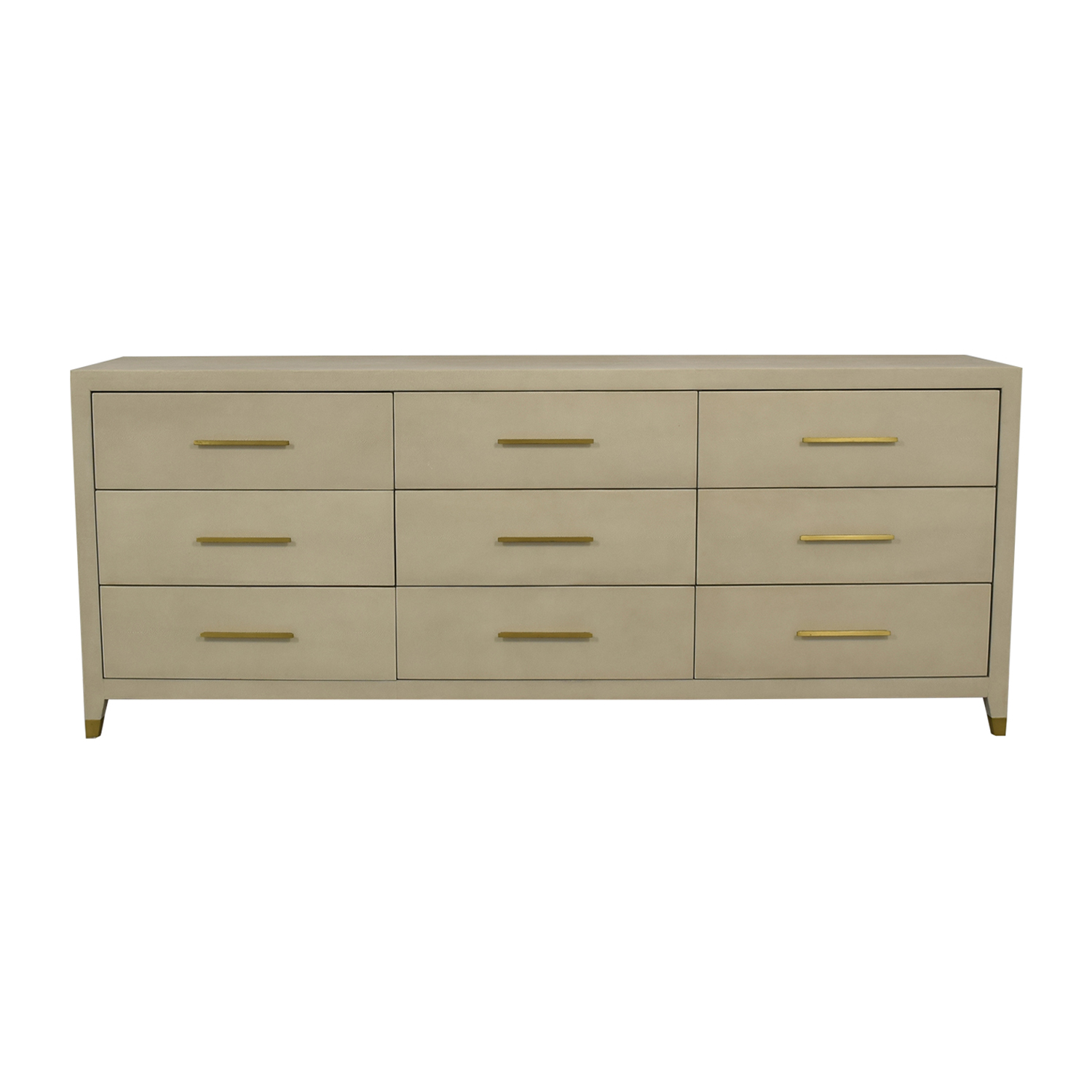 Restoration Hardware Restoration Hardware Graydon Bone Shagreen Nine-Drawer Dresser